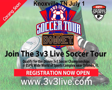 Knoxville FC Hosts 3v3 LIVE Tourney!